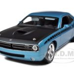 Plymouth Cuda Concept B5 Blue 6.1 Hemi With Black AAR Stripes 1/18 Diecast Car Model by Highway 61