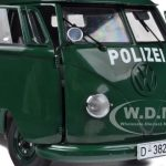 1956 Volkswagen Police Van Green 1/12 Diecast Model by Sunstar