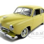 1951 Kaiser Henry J Yellow Platinum Edition 1/18 Diecast Model Car by Sunstar