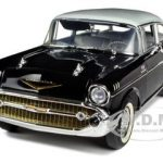 1957 Chevrolet Bel Air Black Limited Edition 1 of 300 Produced Worldwide 1/18 Diecast Model Car by Highway 61