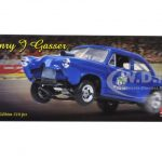 1951 Kaiser Henry J Gasser Blue Platinum Series 1/18 Diecast Model Car by Sunstar