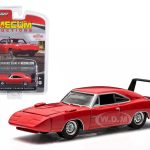 1969 Dodge Charger Hemi Daytona R4 Bright Red Mecum Houston April 2015 1/64 In Blister Pack by Greenlight
