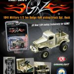 Stacey Davids Sargeant Rock 1941 Military Dodge 1/2 Ton 4×4 Pick Up Truck 1/64 Diecast Model by Acme/Greenlight