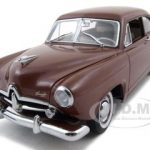 1951 Kaiser Henry J With Trunk Caribbean Coral Platinum Edition 1/18 Diecast Car Model by Sunstar