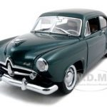 1951 Kaiser Henry J With Trunk Cape Verde Green Metallic Platinum Edition 1/18 Diecast Car Model by Sunstar