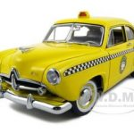 1951 Kaiser Henry J Taxi 1 of 999 Made Platinum Edition 1/18 Diecast Car Model by Sunstar