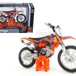 KTM 450 SX-F #5 Ryan Dungey Red Bull 1/18 Dirt Motorcycle Model by Bburago