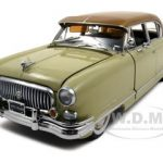 1952 Nash Ambassador Airflyte Champagne Ivory Platinum Edition 1/18 Diecast Model Car by Sunstar