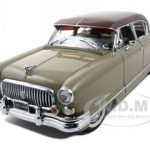 1952 Nash Ambassador Airflyte Tan With Continental Kit Platinum Edition 1/18 Diecast Car Model 1/18 by Sunstar