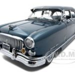 1952 Nash Ambassador Airflyte With Kit Blue Platinum Edition 1/18 Diecast Car Model by Sunstar