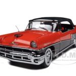 1956 Mercury Montclair Closed Convertible Carousel Red/Tuxedo Black 1/18 Diecast Car Model by Sunstar