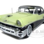 1956 Mercury Montclair Hard Top Green/Black Platinum Edition 1/18 Diecast Car Model by Sunstar
