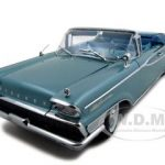 1959 Mercury Parklane Convertible Neptune Turquoise Metallic Platinum Edition 1/18 Diecast Model Car by Sunstar