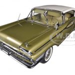 1959 Mercury Park Lane Golden Beige / Marble White Platinum Edition 1/18 Diecast Car Model by Sunstar