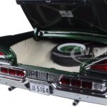 1959 Mercury Park Lane Hard Top Marble White/Sherwood Green Platinum Edition 1/18 Diecast Model Car by Sunstar