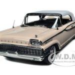 1959 Mercury Park Lane Closed Convertible White/Bermuda SandPink 1/18 Diecast Model Car by Sunstar