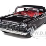 1959 Mercury Parklane Convertible Black / Charcoal Metallic 1/18 Diecast Car Model by Sunstar