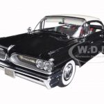 1959 Pontiac Bonneville Hard Top Cameo Ivory/Regent Black Platinum Edition 1/18 Diecast Model Car by Sunstar