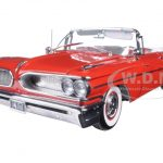 1959 Pontiac Bonneville Open Convertible Mandalay Red Platinum Edition 1/18 Diecast Model Car by Sunstar
