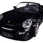 Porsche 911 (997) Turbo Convertible Black 1/18 Diecast Car Model by Motormax