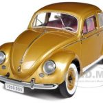 1955 Volkswagen Beetle Kafer Saloon Gold The One Millionth Volkswagen Limited Edition 1 of 1000 Produced Worldwide 1/12 Diecast Model Car by Sunstar
