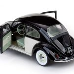 1961 Volkswagen Beetle Saloon White/Black 1/12 Diecast Car Model by Sunstar