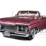 1959 Oldsmobile 98 Open Convertible Burgundy Mist Metallic 1/18 Diecast Car Model by Sunstar