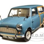 1960 Morris Mini Traveller Clipper Blue Limited Edition 1 of 999 Produced Worldwide 1/12 Diecast Model Car by Sunstar