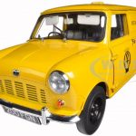 1963 Austin Mini AA Patrol Service Van Yellow 1/12 Diecast Model Car by Sunstar