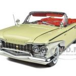 1960 Plymouth Fury Open Convertible Buttercup Yellow 1/18 Diecast Model Car by Sunstar