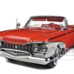 1960 Plymouth Fury Open Convertible Valiant Red 1/18 Diecast Car Model by Sunstar