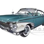 1960 Plymouth Fury Hard Top Oyster White / Turquoise Metallic 1/18 Diecast Car Model  by Sunstar