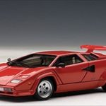 Lamborghini Countach 5000 S Red 1/43 Diecast Model Car by Autoart
