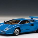 Lamborghini Countach 5000 S Blue 1/43 Diecast Model Car by Autoart