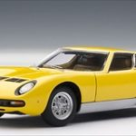Lamborghini Miura SV Yellow 1/43 Diecast Model Car by Autoart