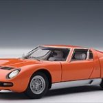 Lamborghini Miura SV Orange 1/43 Diecast Model Car by Autoart