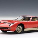 Lamborghini Miura SV Red 1/43 Diecast Model Car by Autoart