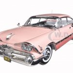 1959 Dodge Custom Royal Lancer Hard Top Rose Quartz/Coral Platinum Edition 1/18 Diecast Model Car by Sunstar