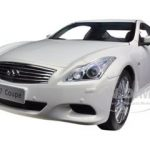 2012 Infiniti G37 Coupe White 1/18 Diecast Car Model by Paudi