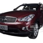 2012 Infiniti EX25 Burgundy 1/18 Diecast Car Model by Paudi