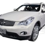 2012 Infiniti EX25 White 1/18 Diecast Car Model by Paudi