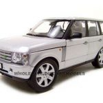 2003 Land Rover Range Rover Silver 1/18 Diecast Car Model by Welly