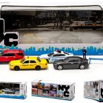 New York City NYC NYPD 7 Pieces Traffic Scene Diorama 1/64 by Greenlight