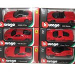 Ferrari 6pc Diecast Car Set 1/64 by Bburago