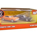 1970 Plymouth Hemi Cuda & 1969 Dodge Charger Set 1/64 Diecast Car Models by Hotwheels