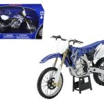 2009 Yamaha YZ450F Dirt Bike Blue Motorcycle 1/12 Model by New Ray