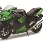 2011 Kawasaki ZX-14 Ninja Green Motorcycle Model 1/12 by New Ray