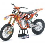KTM Factory Racing Red Bull 450 SX-F Red Bull Ryan Dungey #5 Dirt Bike 1/10 Diecast Motorcycle Model by New Ray