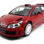 Citroen C4 WRC Plain Body  Red 1/18 Diecast Model Car by Autoart