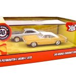 1969 Dodge Coronet Super Bee & 1969 Plymouth GTX Set 1/64 Diecast Car Model by Hotwheels